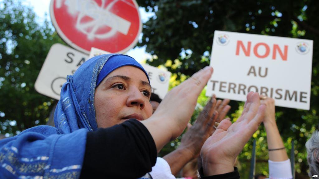 مظاهرة لمسلمين بفرنسا