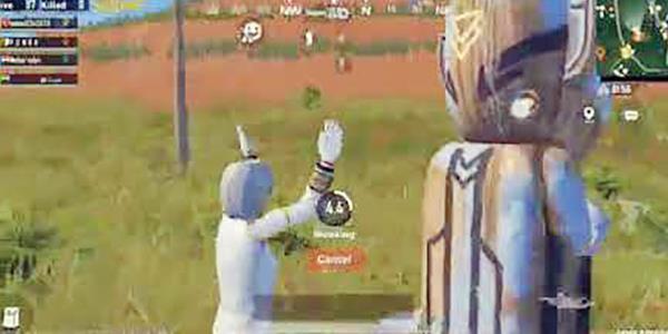 الركوع للصنم في لعبة ببجي